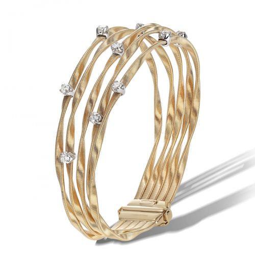 Marco Bicego Marrakech Armband mit Diamanten Gold 5 Stränge Armreif BG340 B YW