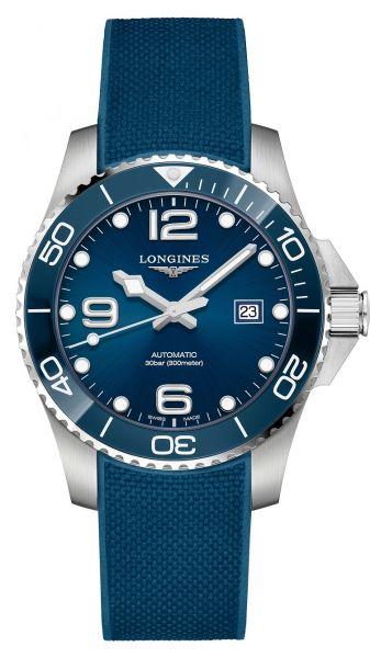 Longines HydroConquest Automatic 43mm Blau Kautschuk-Armband L3.782.4.96.9 | Uhren-Lounge