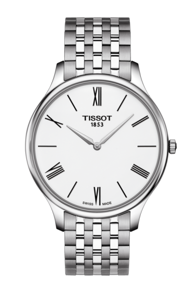 Tissot Tradition 5.5 Herrenuhr 39mm mit Weißen Zifferblatt T063.409.11.018.00