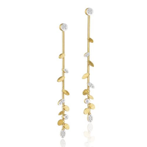 Luisa Rosas BE Linear Ohrringe Gold mit Diamanten M LRBE133