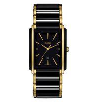 Rado Integral Herrenuhr L Schwarz Gold Keramik Quarz R20204162 | Uhren-Lounge