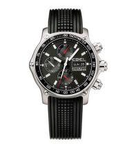 Ebel Discovery Automatik Chronograph 43mm schwarz Kautschuk-Armband Herrenuhr 1215796