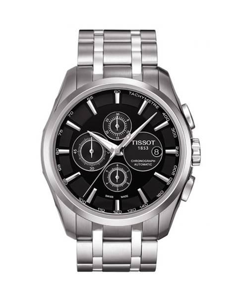 Tissot Couturier Herren silber schwarz Chronograph Automatik Uhr T035.627.11.051.00