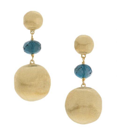 Marco Bicego Ohrhänger Africa Gold mit blauen Topas Edelsteinen OB927-TPL01-Y zum günstigen Preis online kaufen   Uhren-Lounge