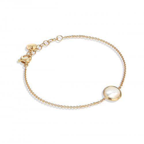 Marco Bicego Jaipur Armband mit weißem Perlmutt Gold 18 Karat BB2579 MPW Y