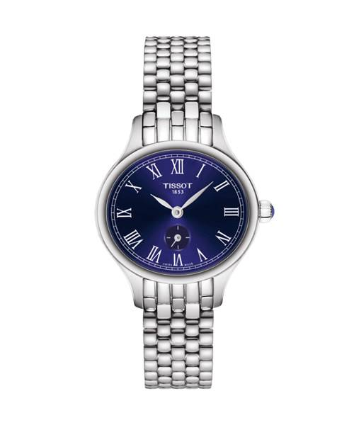 Tissot Bella Ora Piccola Damenuhr Silber Blau 27mm mit Edelstahl-Armband T103.110.11.043.00   Uhren-Lounge
