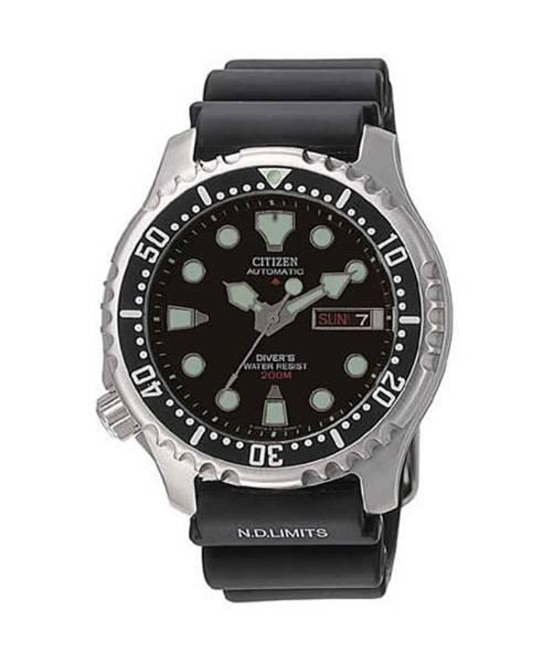 Citizen Promaster Sea Automatic Diver 42mm silber schwarz Gummiband NY0040-09EE Taucheruhr