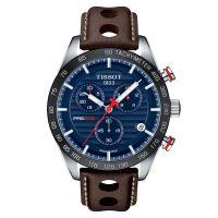 Tissot PRS 516 Chronograph Herren 42mm Blau Leder-Armband Quarz T100.417.16.041.00
