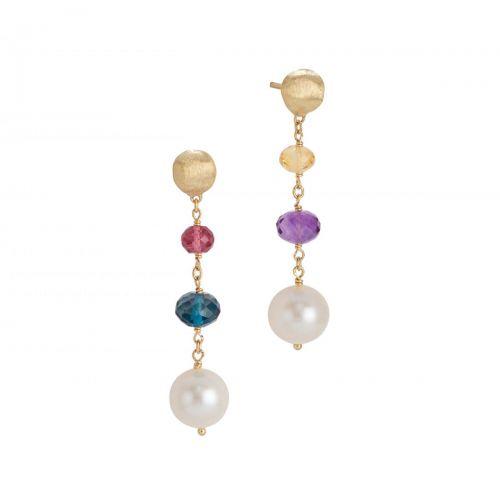Marco Bicego Ohrringe mit Perlen & Edelsteinen Gold Africa Color Ohrhänger OB1722-PL MIX02 Y