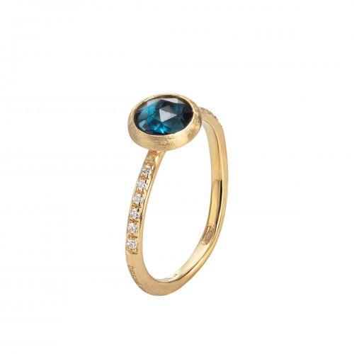 Marco Bicego Ring mit blauem London Topas & Diamanten Gold Jaipur Color AB471-B TPL01 Y