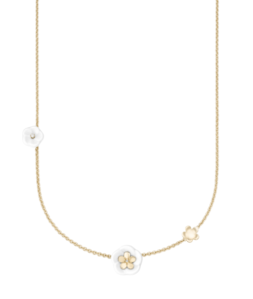 Meissen Collier Halskette Gold 3 Blüten Diamanten 1739 Royal Blossom MPJ20BL359C45