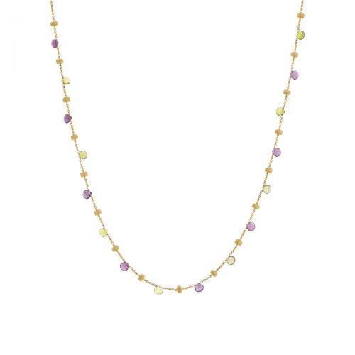 Marco Bicego Paradise Halskette mit bunten Edelsteinen Gold 18 Karat CB765 MIX08