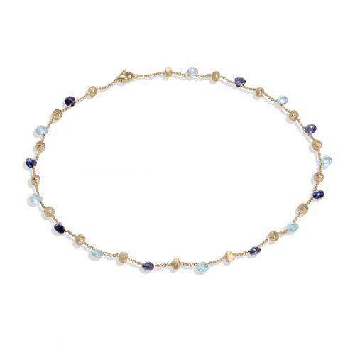 Marco Bicego Paradise Kette mit blauen Topas & Iolit Edelsteinen Gold CB765 MIX240 Y