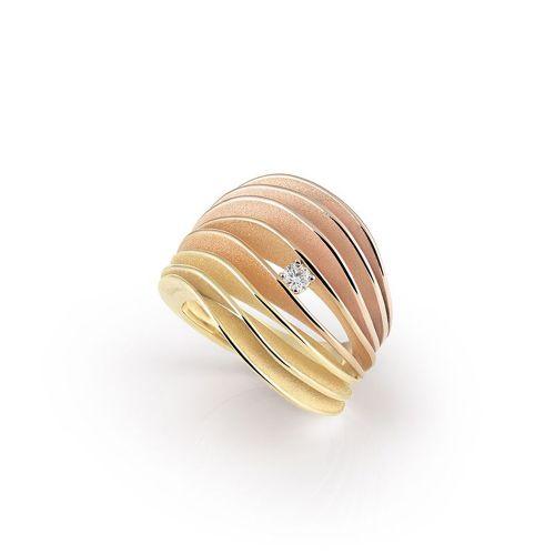 Annamaria Cammilli Velaa Ring Multicolor mit Diamanten Gold 18 Karat GAN3217T