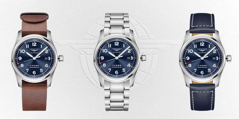 Longines-Spirit-Prestige-Edition-Blau-mit-3-Armbaendern-L3-811-4-93-9