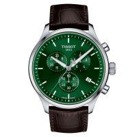 Tissot Chrono XL Classic mit grünem Zifferblatt & Leder-Armband Quarz 45mm Herrenuhr T116.617.16.091.00