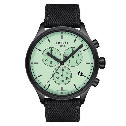 Tissot Chrono XL Schwarz Grün Textil-Armband Herrenuhr Chronograph Quarz 45mm T116.617.37.091.00