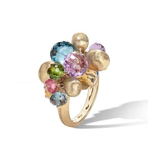 Marco Bicego Ring mit bunten Edelsteinen Gold 18 Karat Africa Color Cocktail-Ring AB603 MIX02 Y