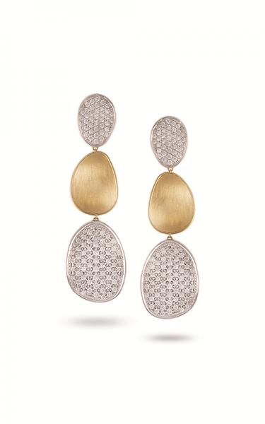 Marco Bicego Diamond Lunaria Damen Ohrringe mit 3,97 ct. Diamanten und 18kt Gelbgold OB1411 B2 YW