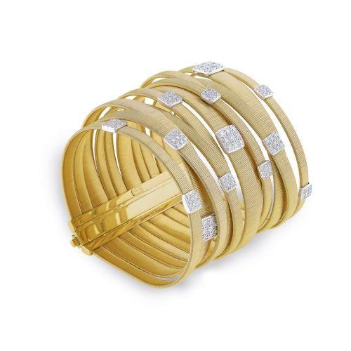 Marco Bicego Masai 11 Strang Damen Armband 18,5 cm aus Gelbgold mit Diamanten BG737 B