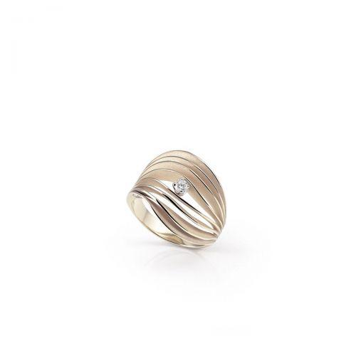 Annamaria Cammilli Ring Velaa Star Beige Gold mit Diamanten Essential GAN3247N