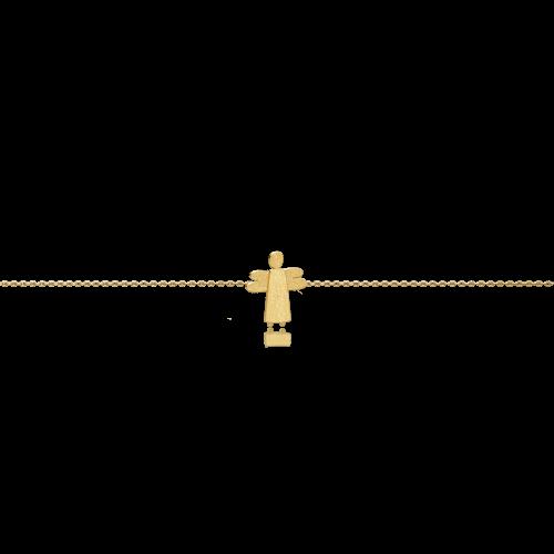 Luisa Rosas Caring Tales Engel Armband Gold 18 Karat Armkettchen LRCT141