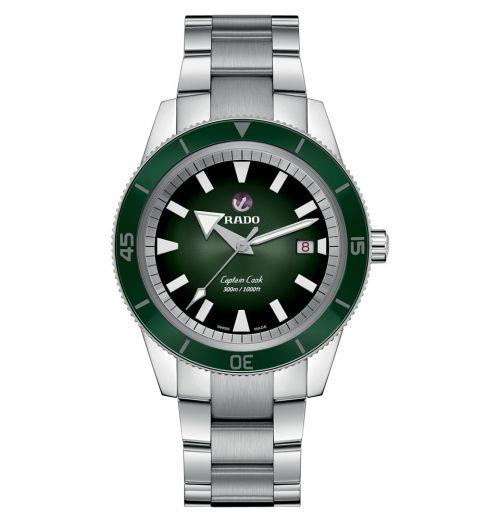 Rado Captain Cook Automatic 42mm Grün Edelstahl-Armband Herrenuhr R32105313