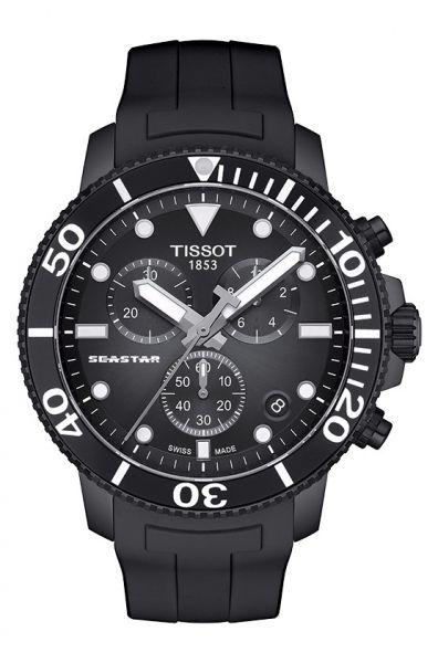 Tissot Seastar 1000 Quartz schwarz 45mm Herren Chronograph Taucheruhr T120.417.37.051.02