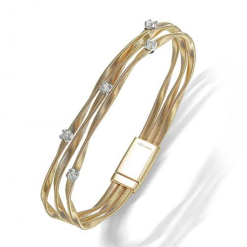 Marco Bicego Marrakech Armband mit Diamanten Gold 18 Karat 3 Stränge Armreif BG338 B YW