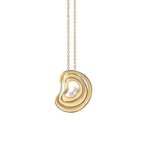 Annamaria Cammilli Dune Anhänger & Kette Gold mit Diamanten Sunrise GPE3084U