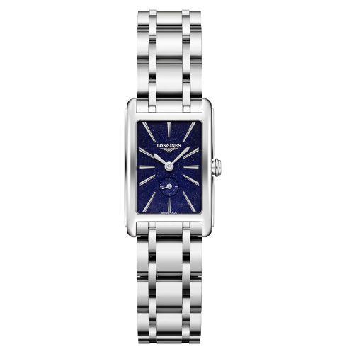 Longines DolceVita Damen Silber Blau Sternenhimmel Edelstahl-Armband 32mm Quarz L5.255.4.93.6