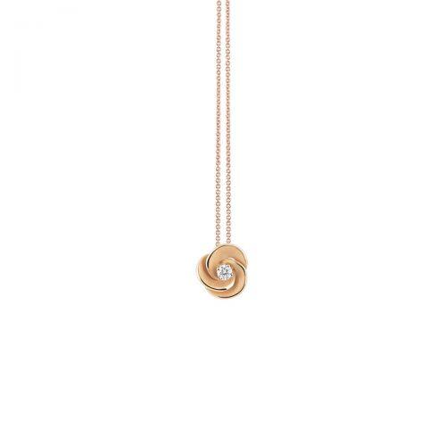 Annamaria Cammilli Anhänger & Halskette Desert Rose Gold mit Diamanten Essential GPE3234J