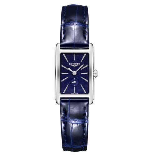 Longines DolceVita Damen Blau Sternenhimmel Leder-Armband 32mm Quarz L5.255.4.93.2