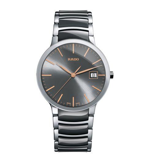 Rado Centrix L Herrenuhr Silber Grau Keramik-Armband 38mm Quarz R30927132