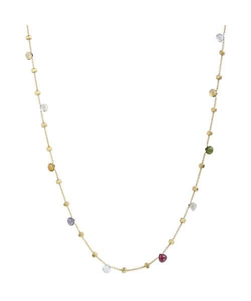 Marco Bicego 18kt Gelbgold Halskette mit Edelsteinmix CB1199 MIX01