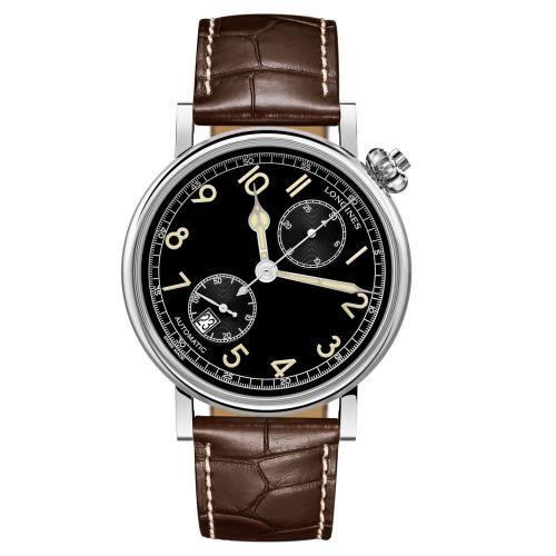 Longines Avigation Watch Type A-7 1935 Automatic Schwarz Leder-Armband 41mm L2.812.4.53.2