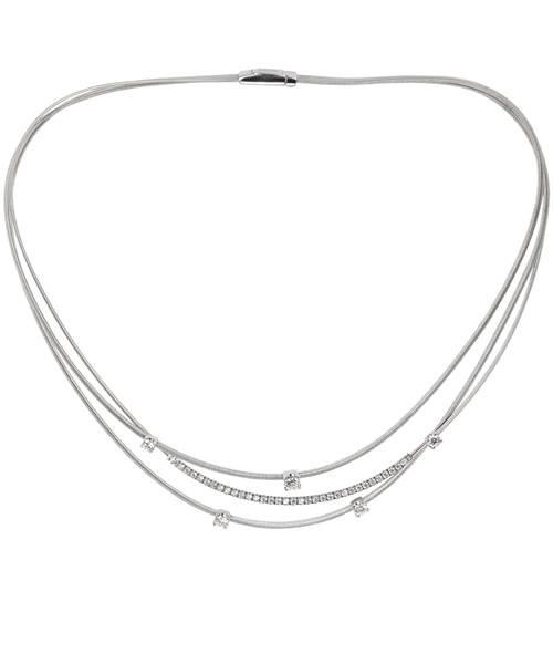 Marco Bicego Halskette Goa in Gelbgold oder Weißgold mit Diamanten CG699-B2