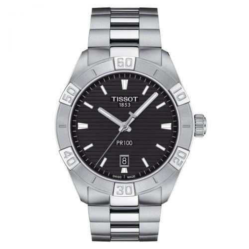Tissot PR 100 Sport Gent Herrenuhr 42mm Silber Schwarz Edelstahl-Armband Quarz T101.610.11.051.00