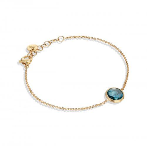 Marco Bicego Jaipur Armband mit blauem London Topas Edelstein Gold 18 Karat BB2579 TPL01