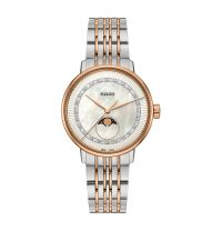 Rado Coupole Classic Diamonds M Damenuhr mit Diamanten & Mondphase Bicolor Quarz Jubile R22883953