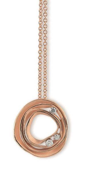 Annamaria Cammilli Dune Halskette Orange Gold Diamanten GPE0776J