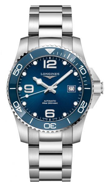 Longines HydroConquest 41mm Automatik Blau Edelstahl-Armband Herrenuhr L3.781.4.96.6