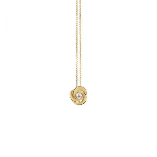 Annamaria Cammilli Anhänger & Halskette Desert Rose Gold mit Diamanten Essential GPE3234U