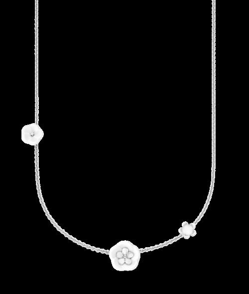 Meissen Collier Halskette Weißgold Diamanten 3 Blüten 1739 Royal Blossom MPJ20BL259C45