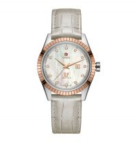 Rado HyperChrome Classic Diamonds Damenuhr Perlmutt Zifferblatt Diamanten Leder-Armband Automatic R33102905