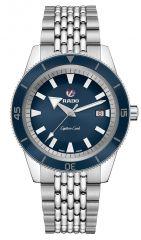 Rado Captain Cook Blau Automatik Uhr Herren 42mm mit blauem Zifferblatt R32505203