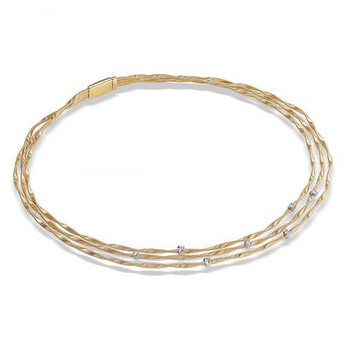Marco Bicego Collier Gold mit Diamanten Marrakech Kette 3 Stränge CG338 B YW