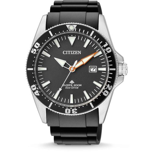 Citizen Promaster Marine 41mm Schwarz Gummiband Quartz Taucheruhr BN0100-42E | Uhren-Lounge