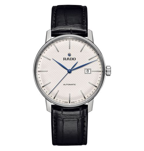 Rado Coupole Classic Automatic XL mit weißem Zifferblatt & Leder-Armband R22876015 | Uhren-Lounge