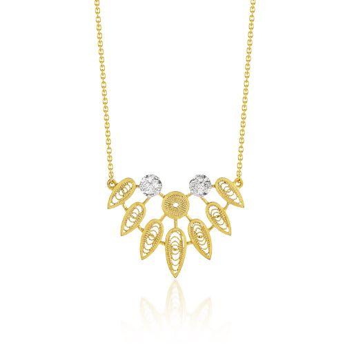 Luisa Rosas Anhänger & Kette Gold mit Diamanten House of Filigree HCO5513.ER